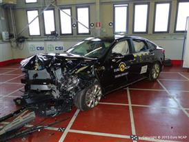 Kia Optima- Frontal Offset Impact test 2015 - after crash