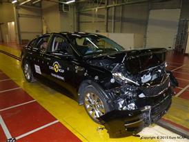 Kia Optima- Frontal Full Width test 2015 - after crash