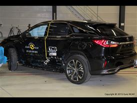 Lexus RX - Side crash test 2015 - after crash