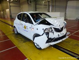 Lancia Ypsilon- Frontal Full Width test 2015 - after crash