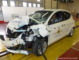Lancia Ypsilon- Frontal Offset Impact test 2015 - after crash