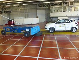 Lancia Ypsilon - Side crash test 2015 - after crash