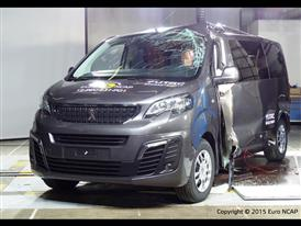 Peugeot Traveller  - Pole crash test 2015 - after crash