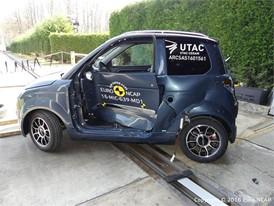 Microcar M.GO Family Side crash test 2016 - after crash