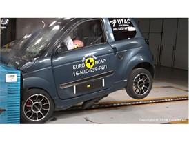 Microcar M.GO Family Frontal crash test 2016 - after crash
