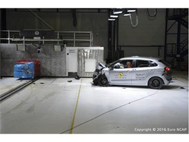 Suzuki Baleno - Frontal Offset Impact test 2016 - after crash