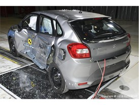 Suzuki Baleno - Side crash test 2016 - after crash