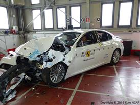Alfa Romeo Giulia - Frontal Offset Impact test 2016 - after crash
