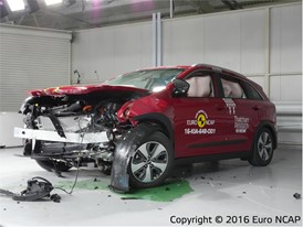 Kia Niro - Frontal Offset Impact test 2016 - after crash