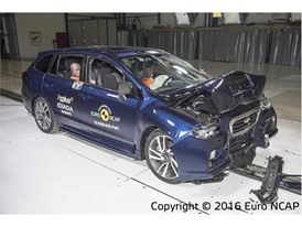 Subaru Levorg - Frontal Full Width test 2016 - after crash