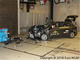 Fiat Tipo - Frontal Offset Impact test 2016 - after crash
