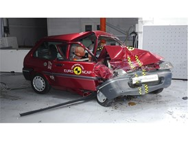 Rover 100 20th anniversary crash test - after crash