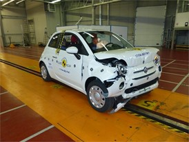 Fiat 500 - Frontal Full Width test 2017 - after crash
