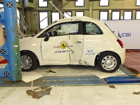 Fiat 500 - Pole crash test 2017 - after crash