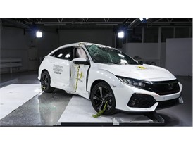 Honda Civic - Pole crash test 2017 - after crash