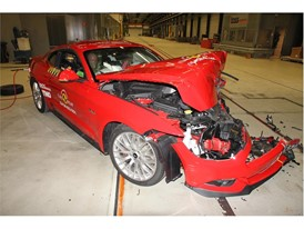 Ford Mustang- Frontal Offset Impact test 2017 - after crash