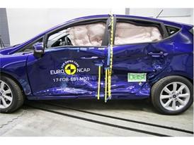 Ford Fiesta  - Side crash test 2017-after crash