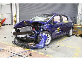 Ford Fiesta- Frontal Offset Impact test 2017 - after crash