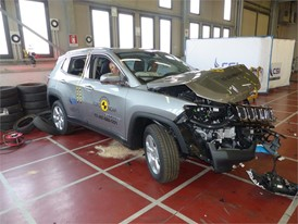 Jeep Compass- Frontal Offset Impact test 2017 - after crash