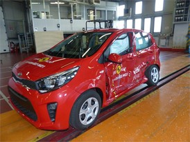 Kia Picanto  - Side crash test 2017-after crash