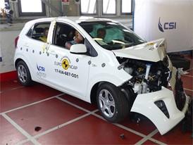 Kia Picanto - Frontal Offset Impact test 2017 - after crash