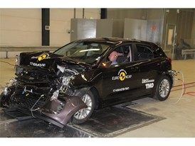 Kia Rio- Frontal Full Width test 2017 - after crash