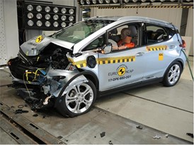 Opel/Vauxhall Ampera-e- Frontal Offset Impact test 2017 - after crash