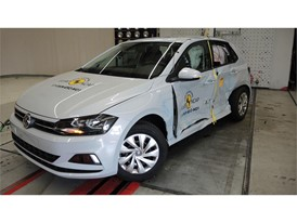 VW Polo - Side crash test 2017 - after crash