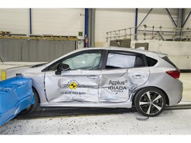 Subaru Impreza - Side crash test 2017 - after crash