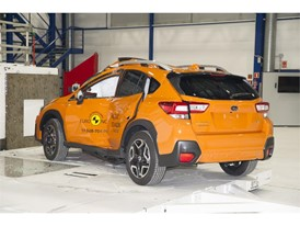 Subaru XV - Pole crash test 2017 - after crash