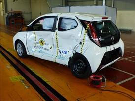 Toyota Aygo - Side crash test 2017 - after crash