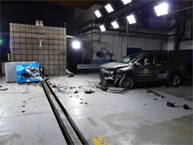 Hyundai KONA - Frontal Offset Impact test 2017 - after crash