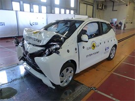 Toyota Aygo - Frontal Full Width test 2017 - after crash