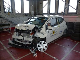 Toyota Aygo - Frontal Offset Impact test 2017 - after crash