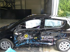 Opel Karl - Side crash test 2017 - after crash