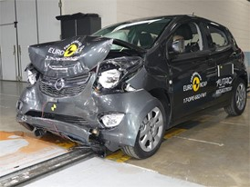 Opel Karl - Frontal Full Width test 2017 - after crash