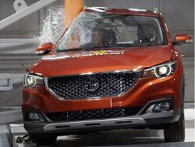 MG ZS - Pole crash test 2017