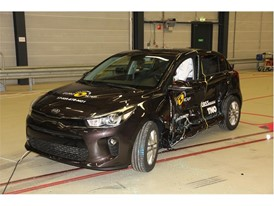 Kia Rio - Side crash test 2017 - after crash