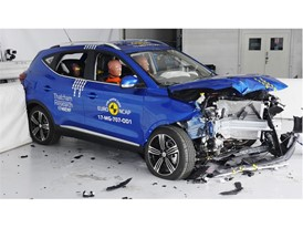 MG ZS - Frontal Offset Impact test 2017 - after crash