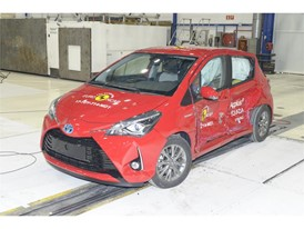 Toyota Yaris - Side crash test 2017 - after crash