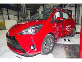 Toyota Yaris - Pole crash test 2017 - after crash