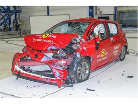 Toyota Yaris - Frontal Offset Impact test 2017 - after crash