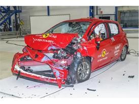 Toyota Yaris - Frontal Offset Impact test 2017 - after crash