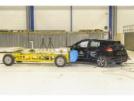 Nissan LEAF - Side crash test 2018 – after crash