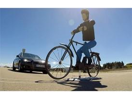 Cyclist target in AEB cyclist test