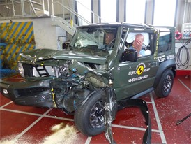 Suzuki Jimny - Frontal Offset Impact test 2018 - after crash