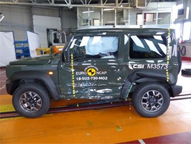 Suzuki Jimny - Side crash test 2018 - after crash