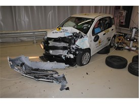 Fiat Panda - Frontal Offset Impact test 2018 - after crash