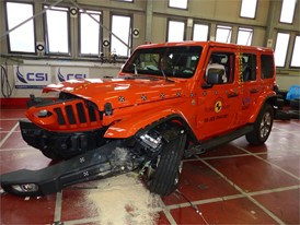 Jeep Wrangler - Frontal Offset Impact test 2018 - after crash