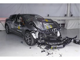 Jaguar I-PACE - Frontal Offset Impact test 2018 - after crash